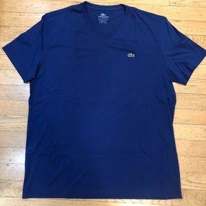 Lacoste Men's V-Neck T Shirt Size 6 (XL)